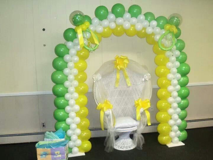 baby shower balloon arch balloon arches katiasdecors pinterest