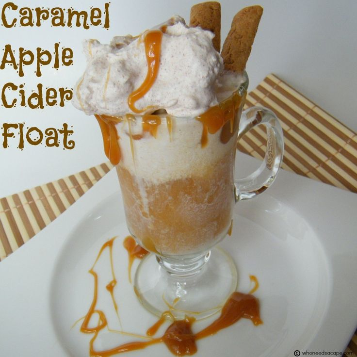 Caramel Apple Cider Float - Who Needs A Cape?