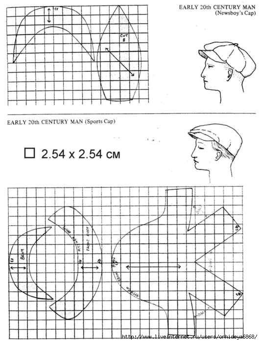 Как сшить кепку хулиганку выкройка 36