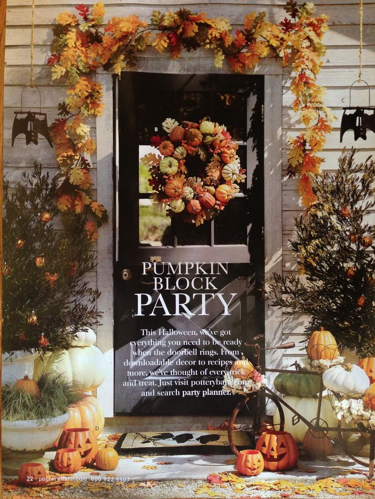 Halloween Front Porch Decorating Ideas Halloween Pinterest