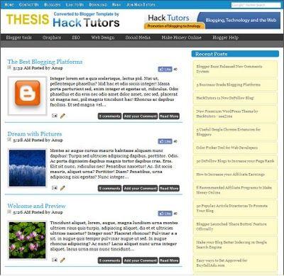 thesis theme video blog