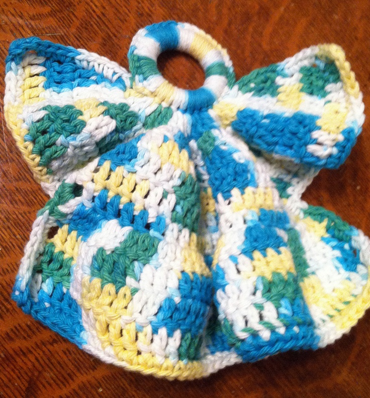 Angel Dishcloth - Free Crochet Pattern Crochet ideas ...