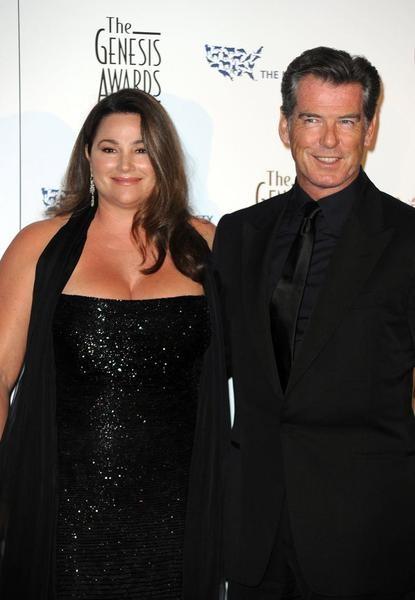 Pierce Brosnan's wife ...