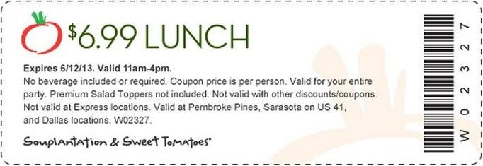Souplantation coupon 2018 lunch