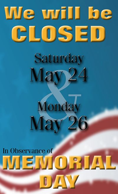 memorial day closures seattle