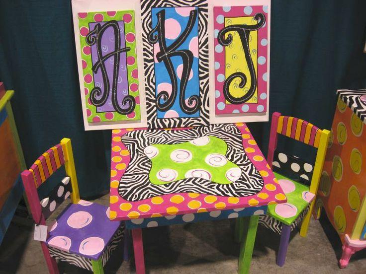 Painted kids furniture