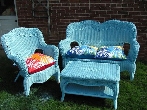 How to paint wicker furniture - Wicker furniture paint colors ...