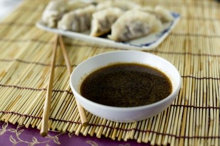 Soy Dipping sauce, with soy sauce, rice vinegar, sesame oil and ...