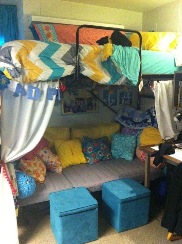 nice dorm room! by Molly Kolodziej  Dorm Ideas for Mols  ~ 200309_Nice Dorm Room Ideas