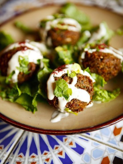 Falafel with Garlicky Tahini Sauce Looks good. It's going to be a bear ...