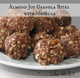 Almond Joy Granola Bites with Nutella - Coffee With Us 3