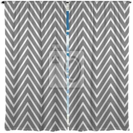 Pearl gray chevron window curtains at http www visionbedding com
