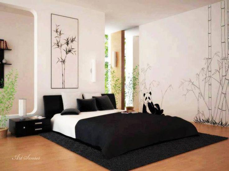 black white japanese style bedroom japanese bedroom pinterest