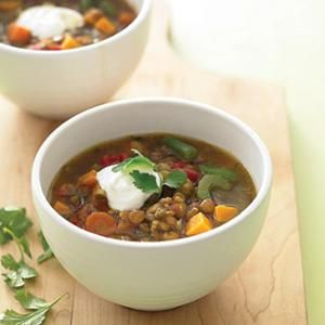 Lentil And Sweet-Potato Stew from Whole Living, found @Edamam!