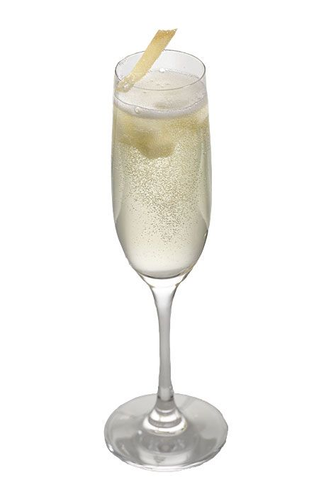 cut into 1/4-inch slices) 1 bottle sparkling wine Crystallized ginger ...