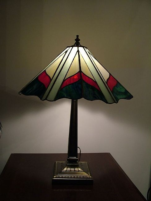 stained glass tiffany style lamp by linda j mcgarvey from glass. Black Bedroom Furniture Sets. Home Design Ideas