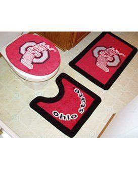 Ohio state bathroom rugs