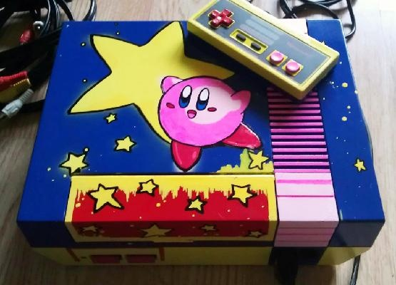 Nintendo Custom Kirby Star NES [Brand NEW 72 Pin Connector] + AV Cable