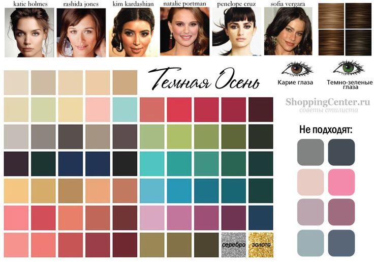 Цвет волос подходящий цветотипу осени