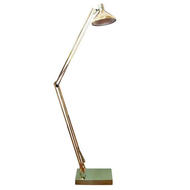 Vintage Oversized Brass Floor Lamp