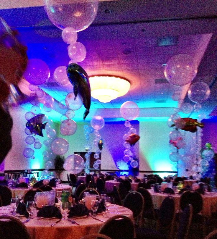 Under The Sea Balloon Ballroom Decor Red