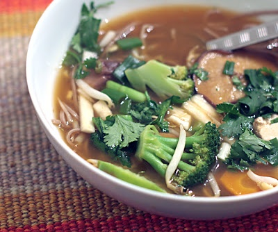 Andrea's Easy Vegan Cooking: Vietnamese soup and a dog update