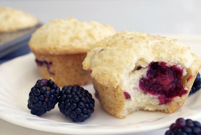 Lemon Ricotta Blackberry Muffins. lemonricottablackberrymuffin by le ...