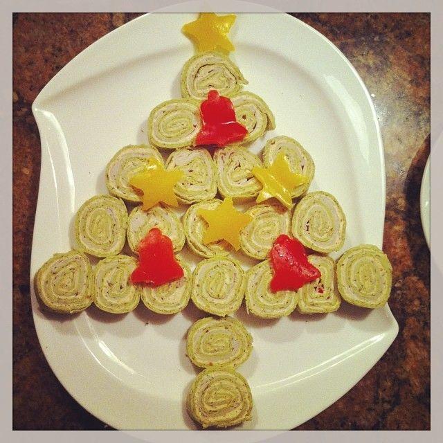 My tortilla wrap christmas tree christmas appetizers pinterest