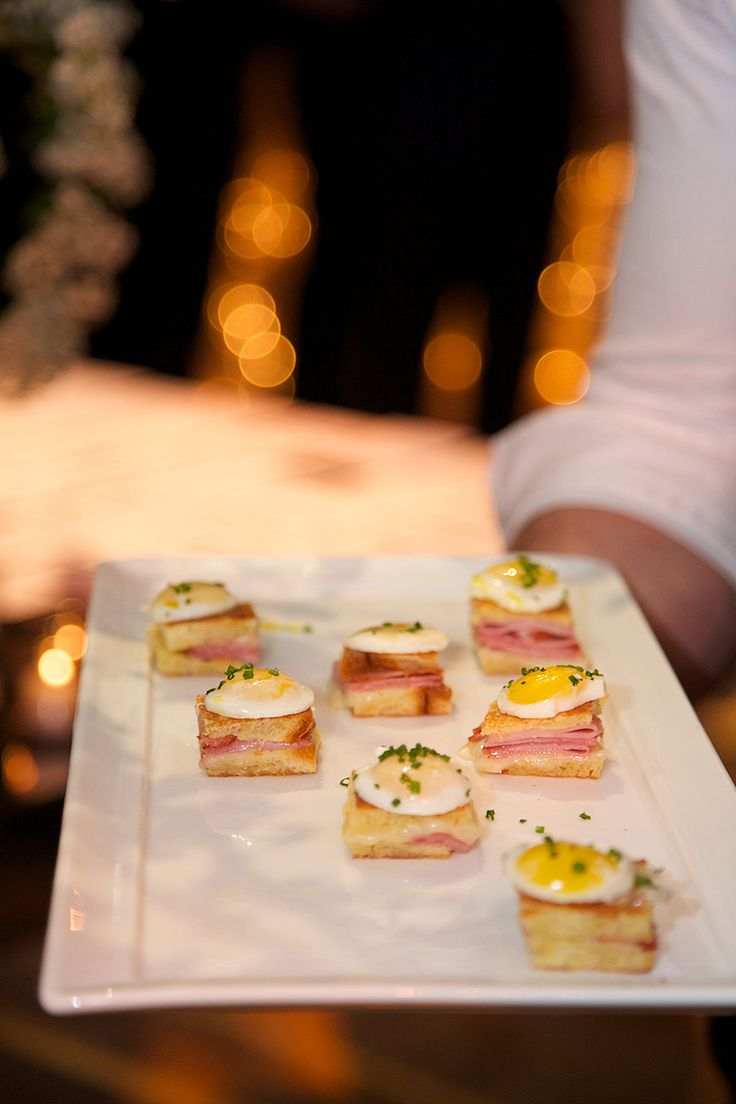 ... these mini Croque Madames topped with scale-appropriate quail eggs