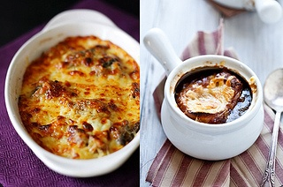on the left side. follow link to the recipe. gnocchi, Gruyere,