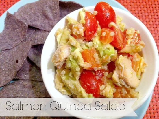 Salmon Quinoa Salad from the Lean Green Bean