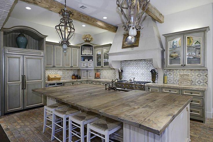 Rustic Wood Kitchen : Rustic wood countertops  Kitchen Ideas  Pinterest