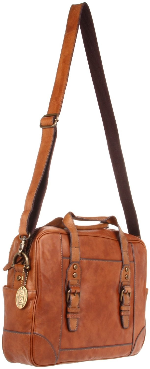 Fossil Lineage Messenger Bag,Camel,One Size