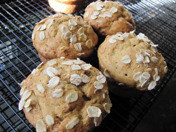 mango muffins. replace white flour with ww flour and oats, cut sugar ...