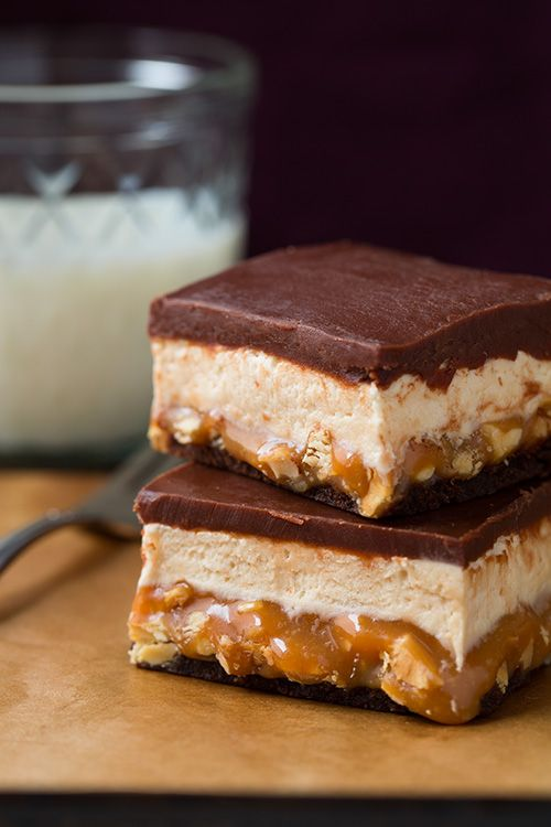Snickers Brownies - total MUST TRY. Recipe by Cooking Classy