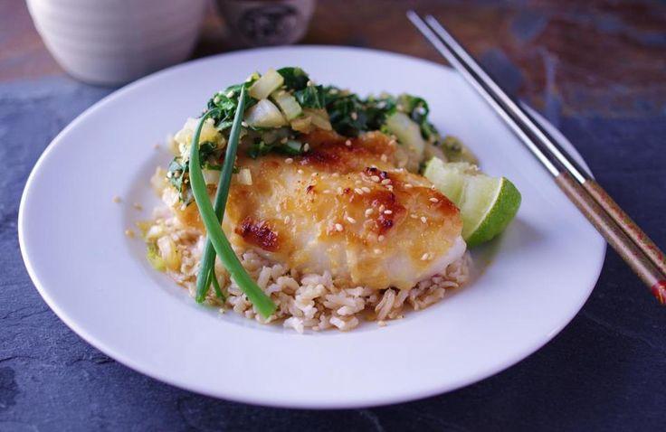 Recipe for miso-glazed cod - The Boston Globe