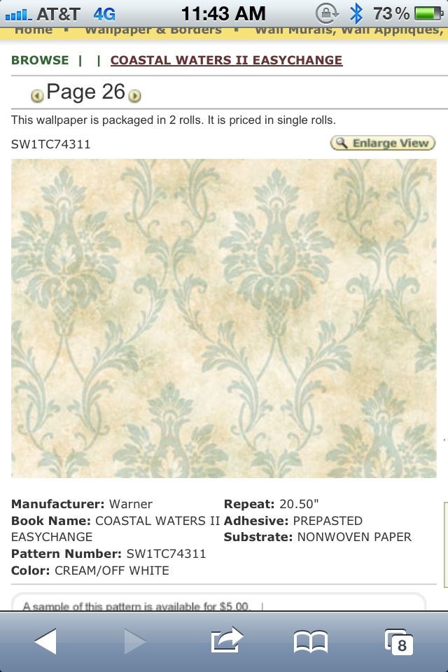 removable wallpaper for master bathroom