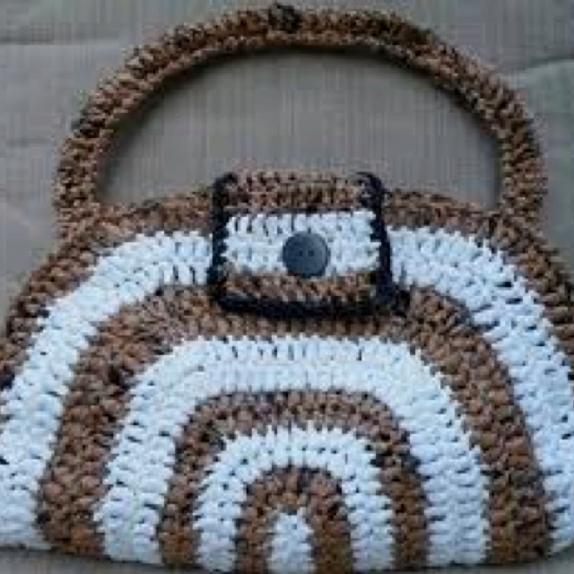 Free Crochet Patterns Plarn Bags : Plarn bag Crochet with Plarn Pinterest