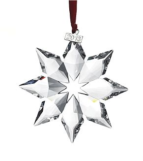 Swarovski: The 2013 Annual Christmas Star ornament makes a great hostess gift