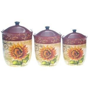 tuscan sunflower kitchen canisters sunflower pinterest sunflower canister set kitchen canisters