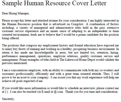 Sample cover letter job application human resources entry level cover letter template 12 free sample spiritdancerdesigns Images