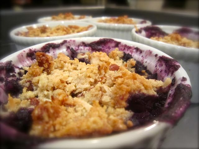 ... Blueberry Crisp. Gluten free & one of the best crisps I've ever had