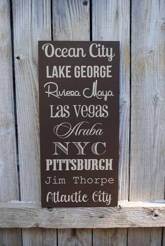 Custom Anniversary Gift 5 Year Anniversay Wood Destination Sign