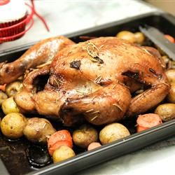 Roasted Herb Chicken and Potatoes | chicken | Pinterest