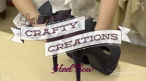 DIY bow heel shoes #CraftyCreations