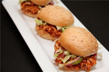 tofu bbq shredded mini sandwiches | Thought for Food | Pinterest