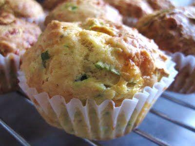Zucchini and Cheddar Muffins | Yummy | Pinterest