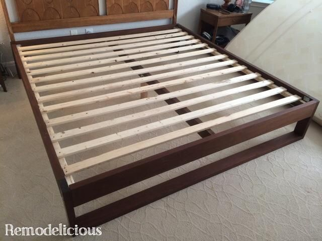 How to build your own DIY King-Sized Modern Platform Bed inspired by ...
