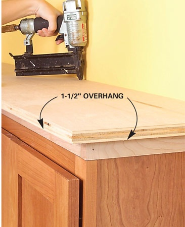 How to add shelves above kitchen cabinets for Adding drawers to existing kitchen cabinets