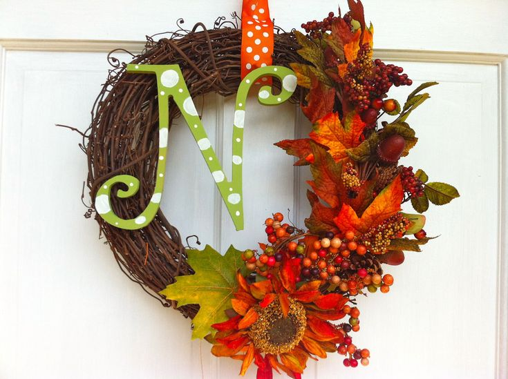 Fall Grapevine Wreath - Fall Wreath.